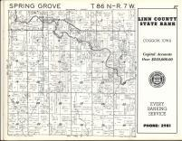 Spring Grove T86N-R7W, Linn County 1963